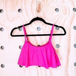 《Roxy》Pink Flutter Swim Top